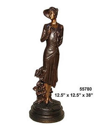 Bronze Fashion Lady Statues - AF 55780