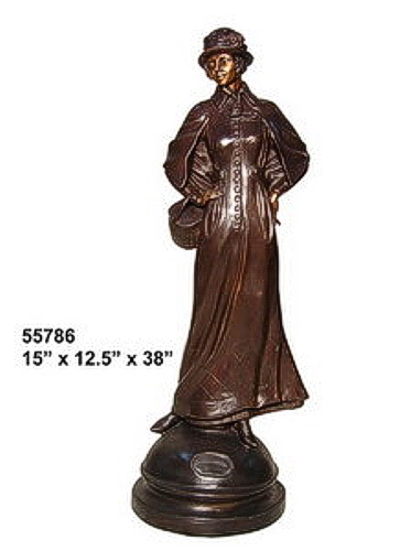 Bronze Fashion Lady Statues - AF 55786