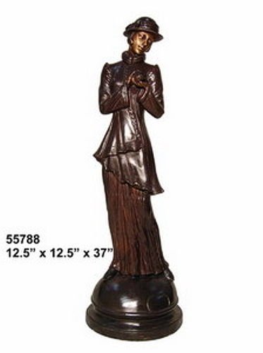 Bronze Fashion Lady Statues - AF 55788