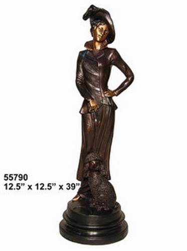 Bronze Fashion Lady Statues - AF 55790