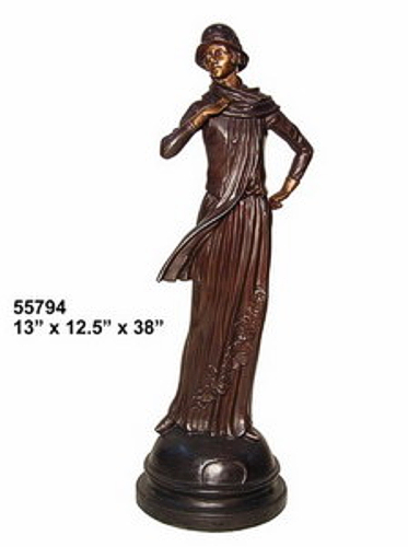 Bronze Fashion Lady Statues - AF 55794
