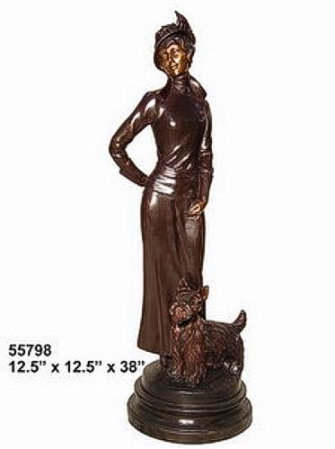 Bronze Fashion Lady Statues - AF 55798