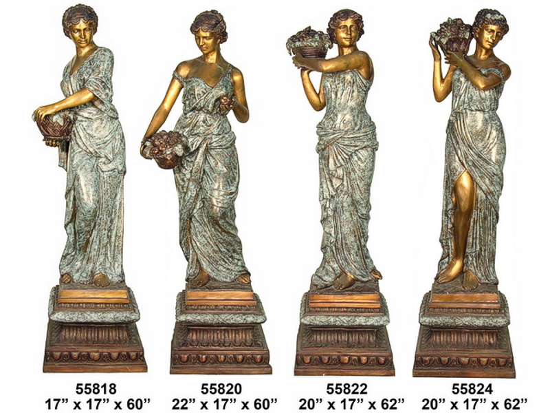 Bronze Four Seasons Statues - AF 55818-24-S