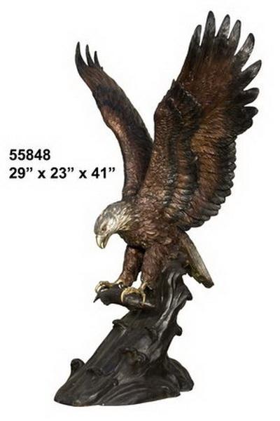Bronze Eagle Statues - AF 55848TS