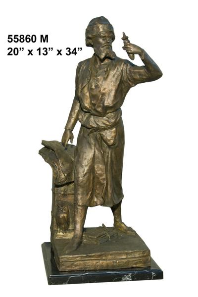 Bronze Inventor Statue - AF 55860M LB