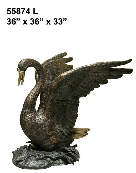 Bronze Swan Fountains & Statues - AF 55874L