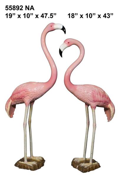 Bronze Flamingo Statue - AF 55892NA