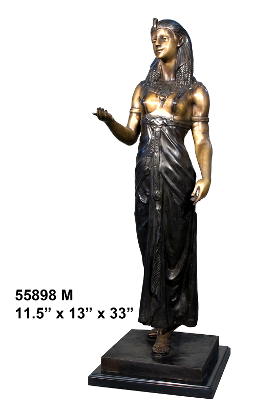 Bronze Egyptian Lady Statue - AF 55898M