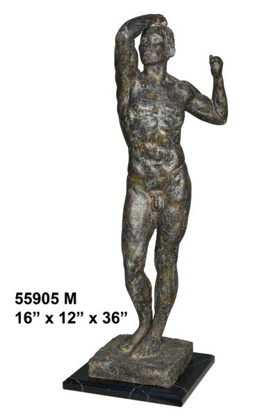Bronze Body Builder Statue - AF 55905M