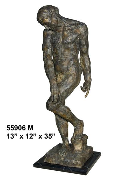 Bronze Body Builder Statue - AF 55906M