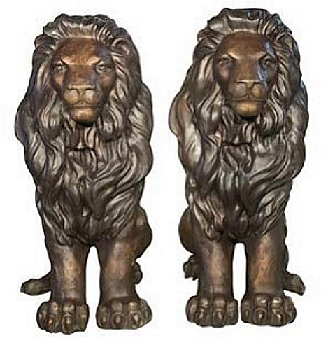 Bronze Lion Statues - AF 55930