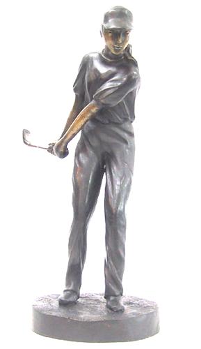 Bronze Female Golfer Statue - DD 5610