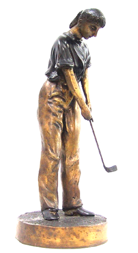 Bronze Female Golfer Statue - DD 5611