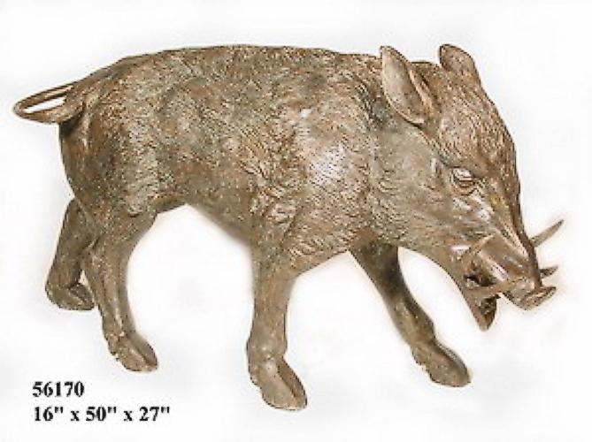 Bronze Wild Boar Statue - AF 56170