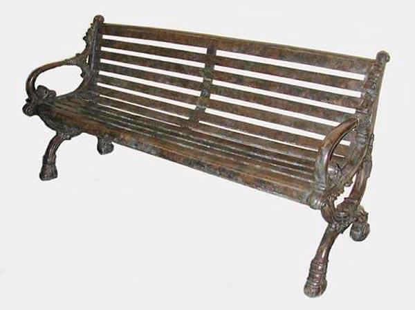 Bronze Park Bench - AF 56197