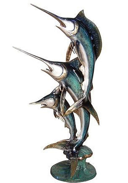 Bronze Sailfish Sculpture Statue - AF 56279NA-S
