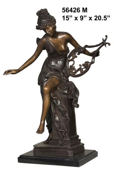 Bronze Lady Musical Statue - AF 56426M