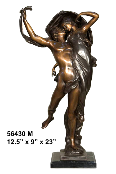 Bronze Exotic Couple Dancing Statue - AF 56430M
