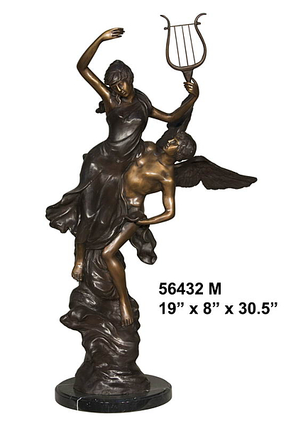 Bronze Angel Statue - AF 56432M