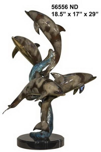 Bronze Dolphin Statue - AF 56556