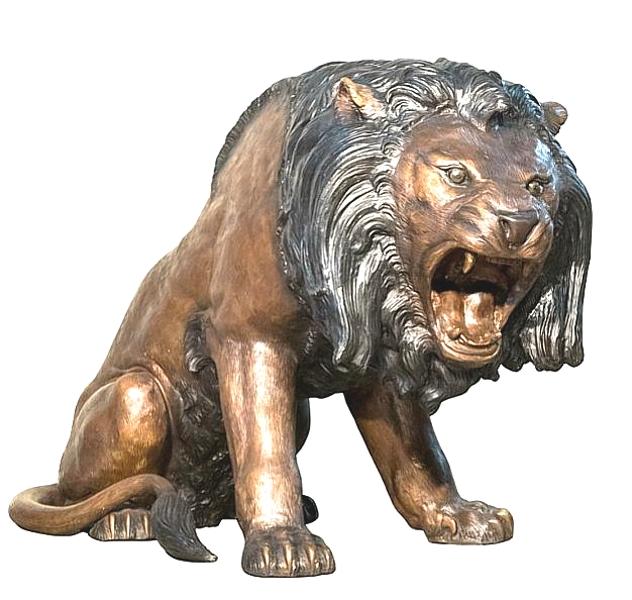 Bronze Lion Statues - AF 56668
