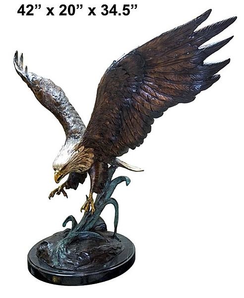 Bronze Eagle Statues | Bird of Prey - AF 56751