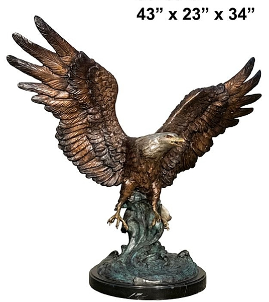Bronze Eagle Statues | Bird of Prey - AF 56759