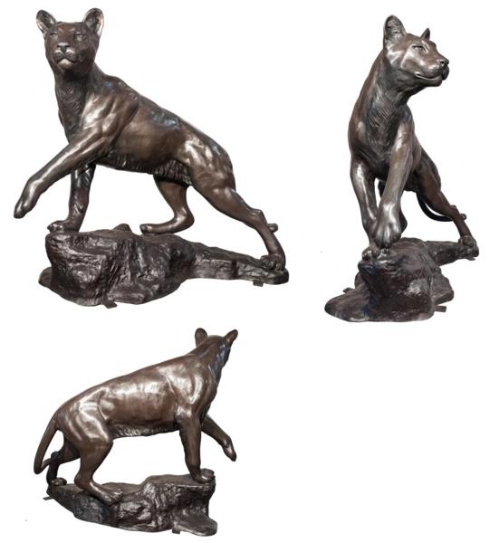 Bronze Cougar Statue - AF 56776