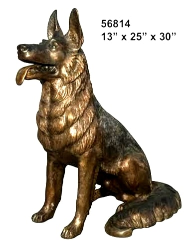 Bronze German Shepherd Dog Statue - AF 56814