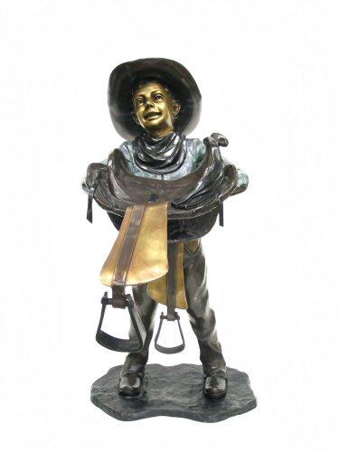 Bronze Cowboy Saddle Statue - AF 57049