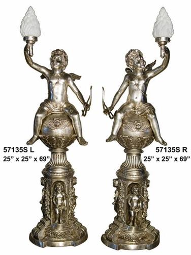 Bronze Cupids Torchieres - AF 57135S