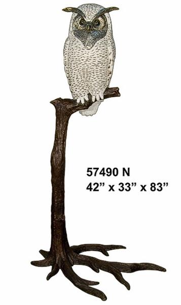 Bronze Snow Owl Statues - AF 57490N