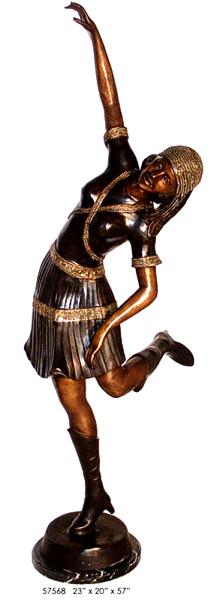 Bronze Dancing Lady Statue - AF 57568