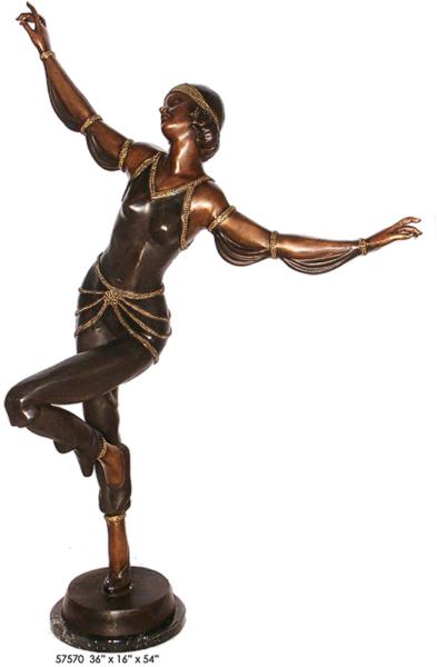 Bronze Dancing Lady Statue - AF 57570