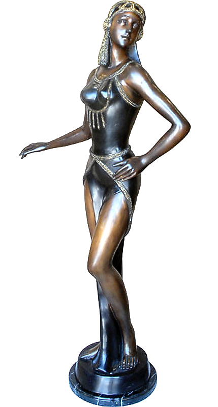 Bronze Egyptian Lady Statue - AF 57572MTS