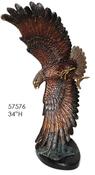 Bronze Eagle Statues | Bird of Prey - AF 57576