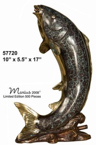 Bronze Fish Fountain - AF 57720_J