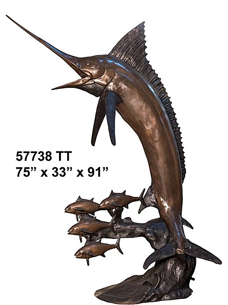 Bronze Marlin Statue Sculpture - AF 57738 TT-S