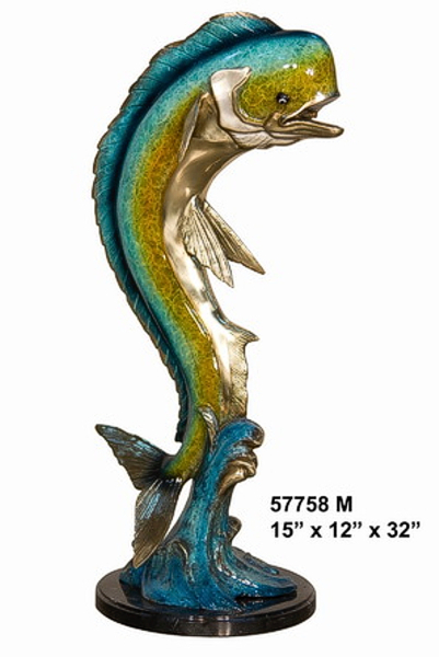 Bronze Dorado Fish Fountain - AF 57758M