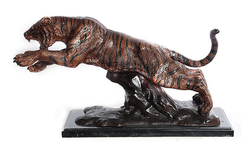 Bronze Tiger Statues - AF 57960