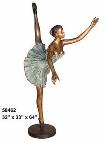 Bronze Girl Ballerina Statue - AF 58462