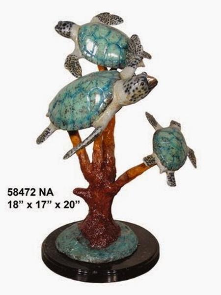Bronze Turtles Statue - AF 58472NA
