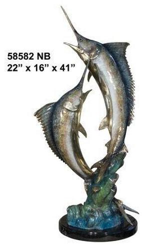 Bronze Swordfish Statue - AF 58582NB