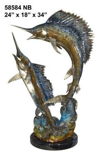 Bronze Swordfish Statue Sculpture - AF 58584NB