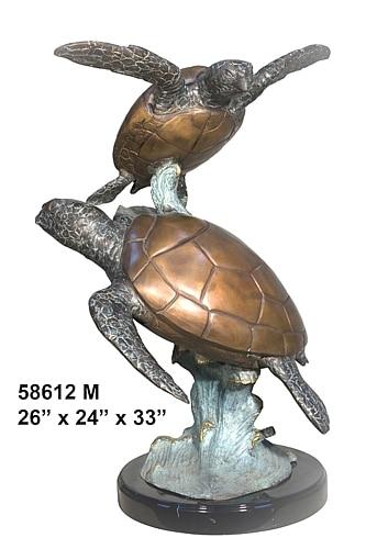 Bronze Turtle Statue - AF 58612M