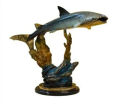 Bronze Whale Shark Statue - AF 58614NA