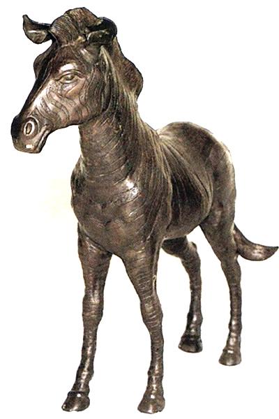 Bronze Zebra Statue - ASB 643