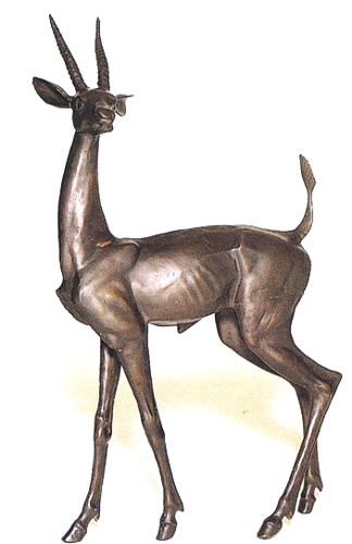 Bronze Gazelle Statues - ASB 644