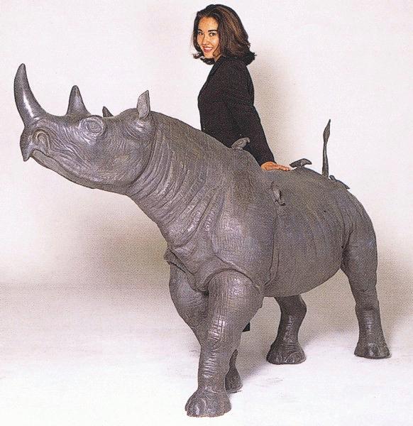 Bronze Rhinoceros Statues - ASB 645