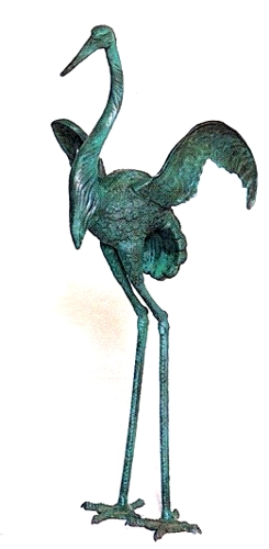 Bronze Crane Fountains - ASB 654-2